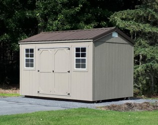 10x14 standard shed, doors on side
