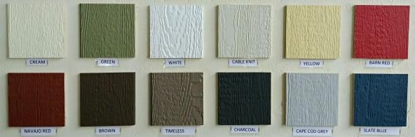 siding and trim colours